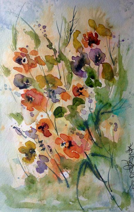 Wildflower bouquet - Art by Karen Dale