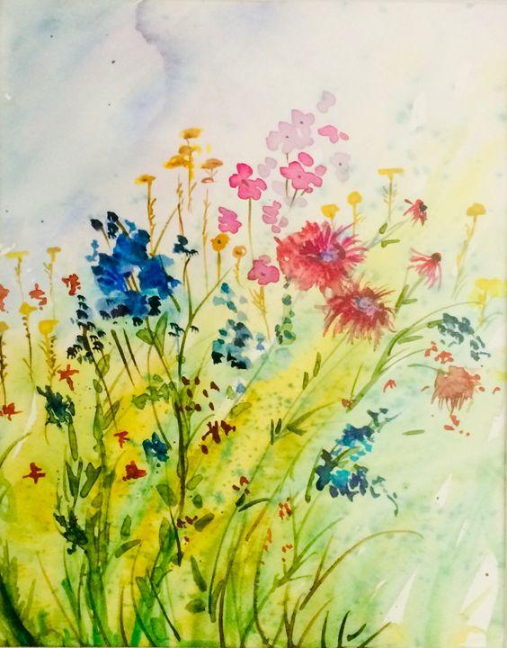 Wildflower Field - Art by Karen Dale