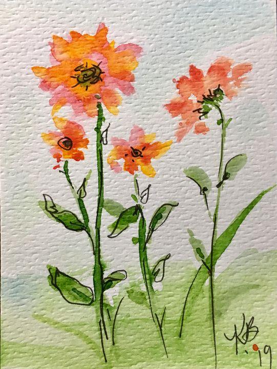 Daisy Splash - Art by Karen Dale