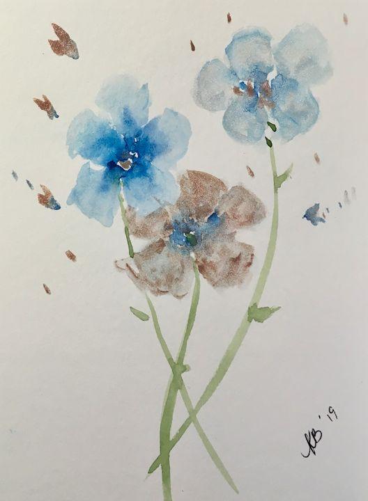 Floral Trio - Art by Karen Dale