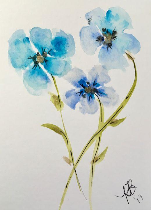 Sky Blues - Art by Karen Dale
