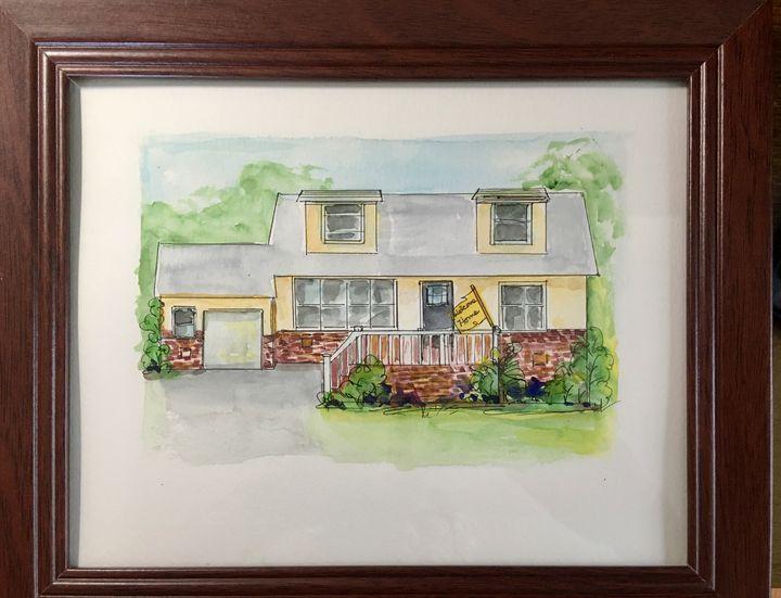 Home Portrait - 2020 Sample style - Art by Karen Dale