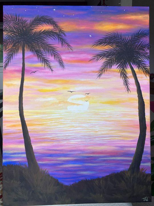 Tropical Sunset - Jennifer Wooden