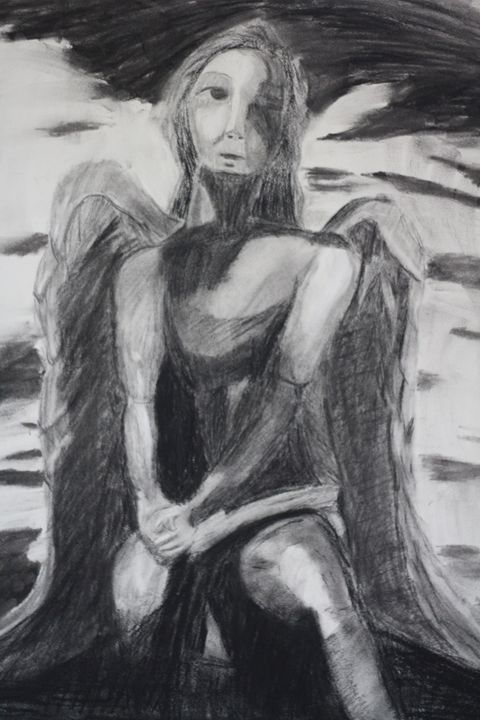 Angel of Melancholy - Charcoal Works
