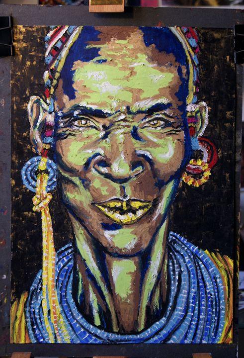 Portrait  of a woman - Colors on Canvas