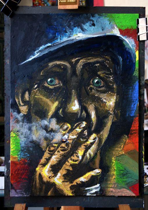 Portrait of a man - Colors on Canvas