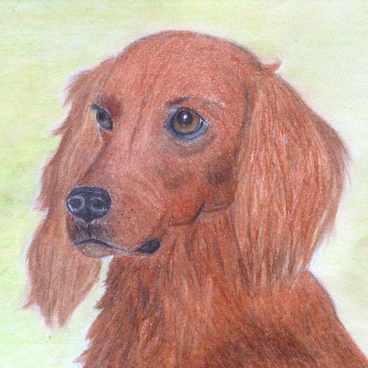 Irish Setter - Personalized pet art