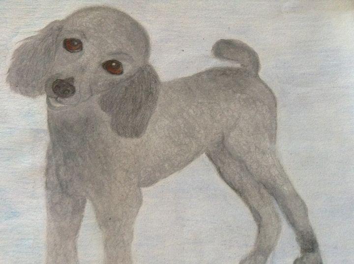 Proud Poodle - Personalized pet art