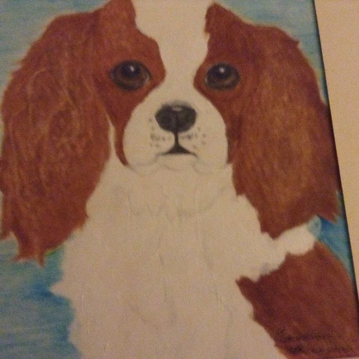 Sweet king cavalier spaniel - Personalized pet art