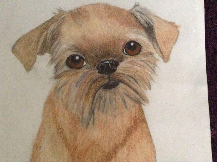 Playful pug terrier mix - Personalized pet art