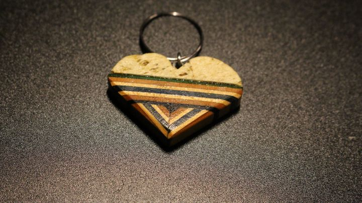 Pumice and skateboard Heart Pendant - Ingenuity Artworks