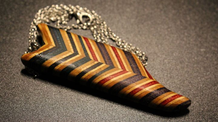 Offset abstract necklace and charm - Ingenuity Artworks