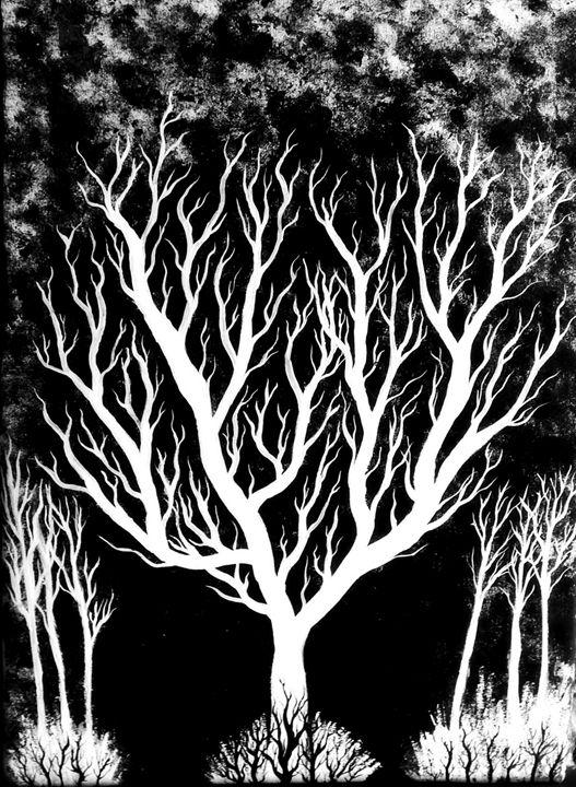 Blazing - Black and White Series - Oasis Artisans