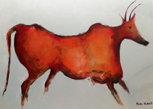 CAVE ART - COW