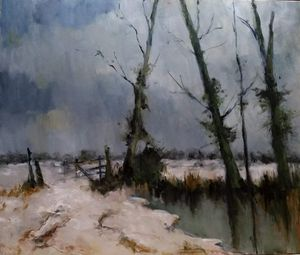 Winter scene after Seago