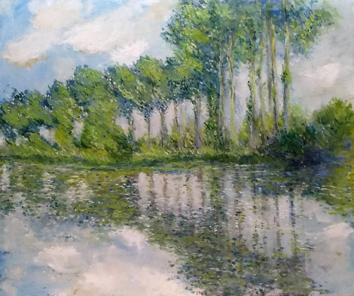 Poplars after Monet - Mirka McNeill