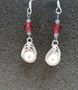 Herringbone Pearl Earrings