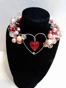 Crystal heart charm bracelet - A Skilled Hand