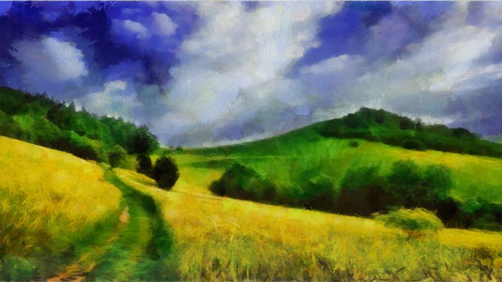 The Old Grass Path - Impressionisms