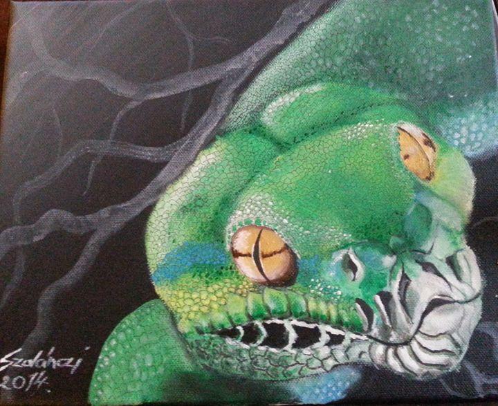 Green tree python - Szalanczi