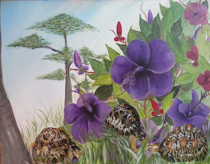 Turtles are eating hibiscus - Szalanczi