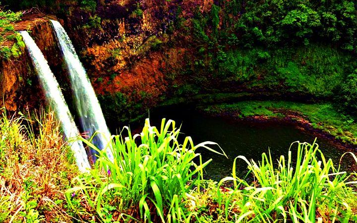 Double Waterfall #2 - Amber's Amazing Art