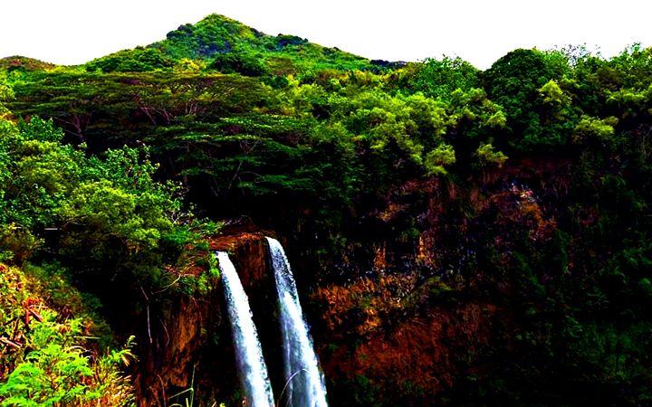 Double Waterfall - Amber's Amazing Art