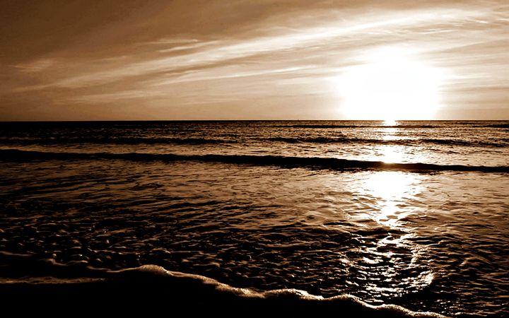 Sepia Maui Sunset - Amber's Amazing Art