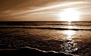 Sepia Maui Sunset