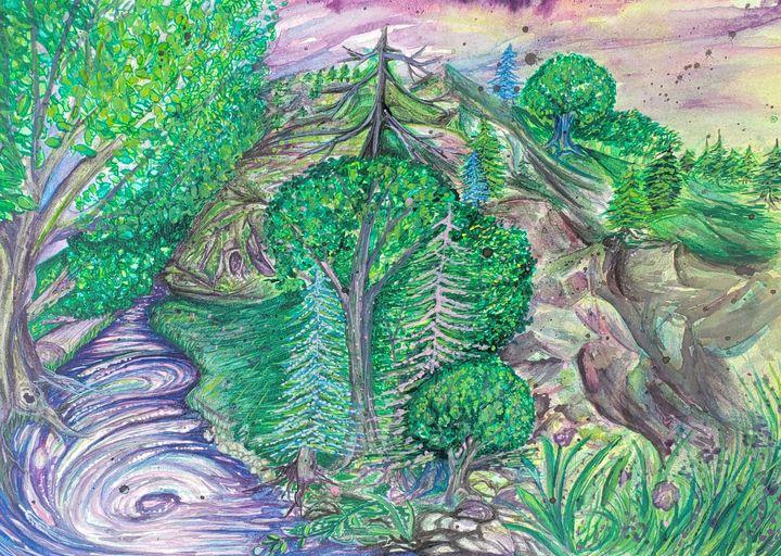 Joyful Enchanted River - Green River Gypsy Art