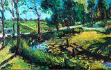 original oil painting on fiberboard