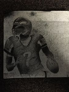 Pointillism of Michael Vick