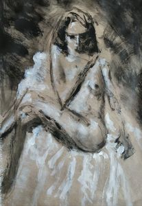 Female Figure In Warm Gray Number 4. - Liam Ryan