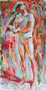 Fauvist Figure Combing Her Hair.