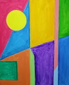 Arrangement Of Colors And Shapes.