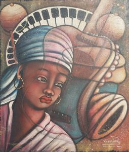 Troubadour Music Woman Head