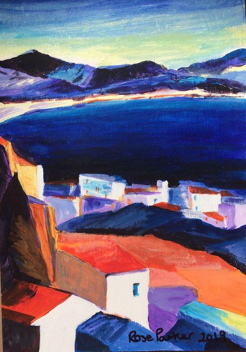 Mojacar playa 2 abstract - Rose Parker