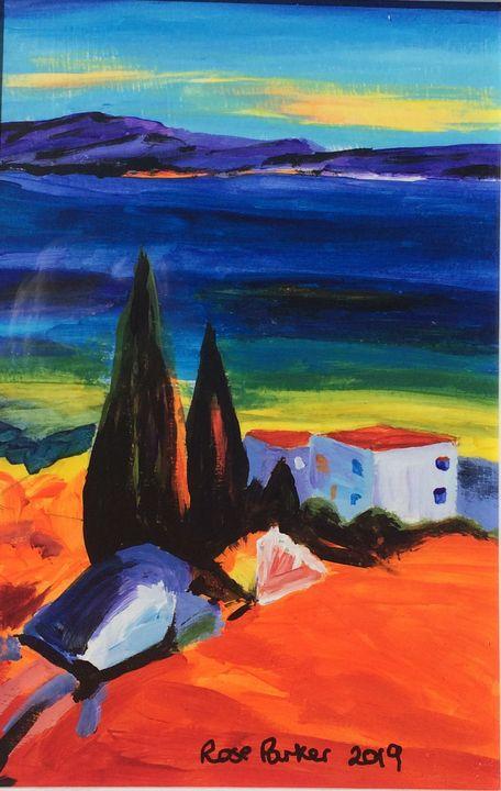 Mojacar playa abstract1 - Rose Parker