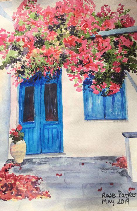 Mojacar blue door 3 - Rose Parker