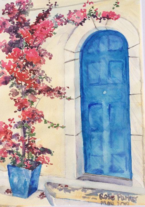 Mojacar blue door 2 - Rose Parker