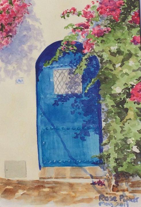 Mojacar blue door 1 - Rose Parker