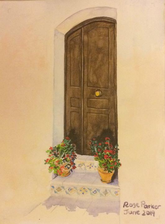 Mojacar brown door 1 - Rose Parker