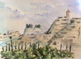 Original watercolour landscape