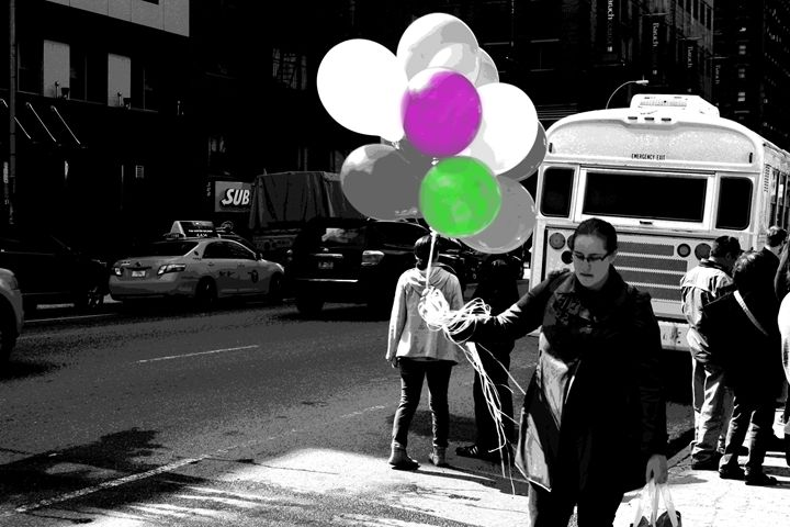 Woman with Balloons - Mike flynn