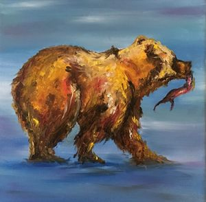 Bear with Salmon