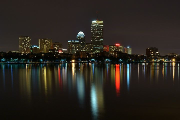 Boston Skyline at Night - Jatin Thakkar Photography