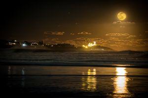 Wolf Moon Over Nubble Light