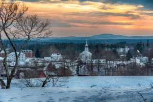 Winter Sunset - Groton - Massachuset