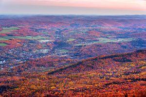 Town of Adams in Fall Colors