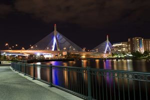 Zakim Bridge by Night - Boston